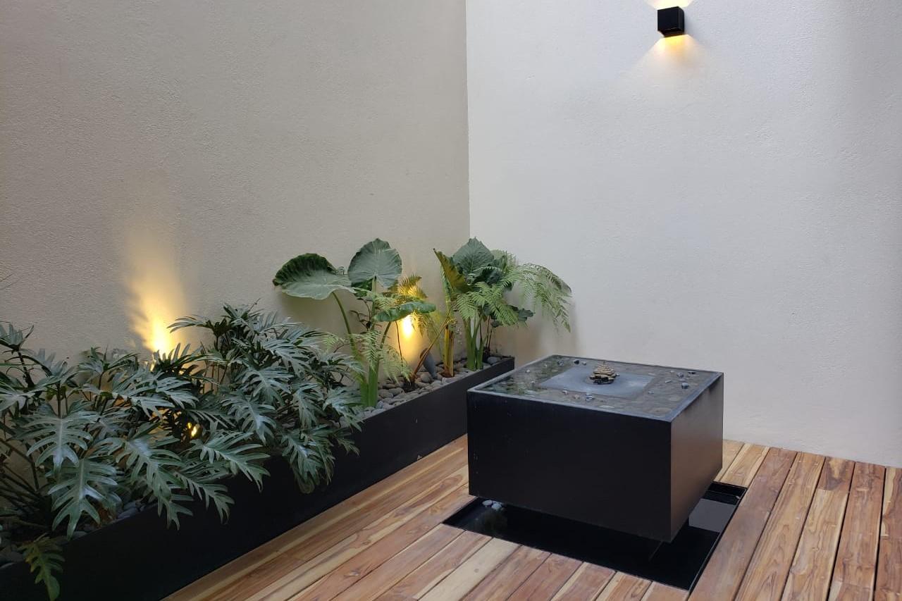 Iluminación patio